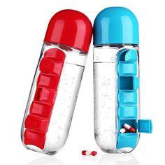 Weekly Pill Organizer, Human Environment, Gadgets, Pill Bottles, Water Bottles, Organiser Box, Brick And Stone, Present Gift, Storage Organization