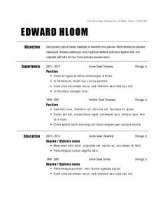 Plus It  Resume Format    Template Resume Format And