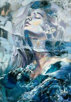 Dreamy painting, Breath of Providence, was created by an extraordinary painter, Dimitra Milan. Available at MARTIN Gallery of Fine Art in Carmel, Indiana. Art Inspo, Kunst Inspo, Inspiration Art, Fantasy Kunst, Fantasy Art, Dimitra Milan, Art Amour, L'art Du Portrait, Poster Art