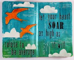 Vicky Papaioannou for Limor Webber Designs with an art journal page and video tutorial; Jan 2015