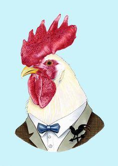 Etsy の Rooster print 5x7 by berkleyillustration