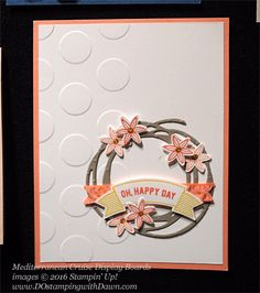 Swirly Scribbles, Thoughtful Banners, Grateful Bunch, Awesomely Artistic, Mediterranean Cruise Display Card shared by Dawn Olchefske #dostamping #stampinup