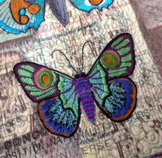 Embroidered butterfly quilt. Periwinkle Quilting and Beyond: June 2015