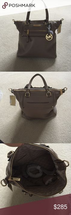 LAST CHANCE🆕MK Gilmore DK Dune Leather Tote Brand new with tags! Michael Kors Bags