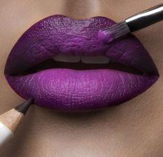 @AliyaMadani Violet Lipstick, Lipstick Shades, Lipstick Colors, Lip Colors, Pretty Makeup, Love Makeup, Makeup Tips, Beauty Makeup, Purple Lipstick Makeup