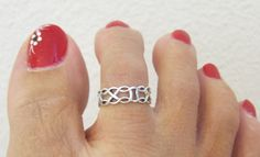 Adjustable Sterling Silver Infinity Toe Ring by GreatJewelry4All, $12.00