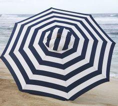 Navy striped umbrella