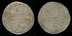 Scarce Al Muhammadiya Mint Abbasid Silver Coin Al-Rashid Dirham 178 AH / 794 AD Nice Very Fine