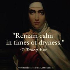 Teresa of Avila Catholic Quotes, Catholic Prayers, Catholic Saints, Religious Quotes, Roman Catholic, Catholic Art, Holy Mary, St Theresa Of Avila, Catholic Gentleman
