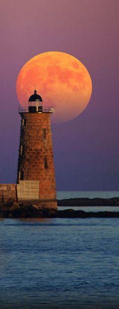 Whaleback Lighthouse, Maine, USA