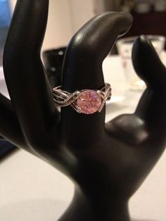 Pink Sapphire RING 2 Carat CT Size 8 Sterling Silver 925 Marcasite CZ Cubic Zirconia Vintage Sparkly Jewelry Bridal Engagment Gift Cocktail on Etsy, $28.00