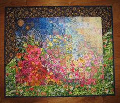 Art Quilt Sunshine Garden Wall Hanging by TahoeQuilts on Etsy