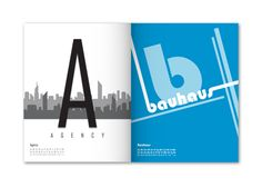 This A-Z uses font names rather than type terms  An A to Z of Typography by Felix Ng, via Behance