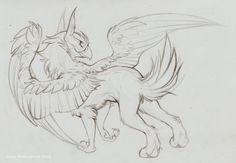 Sketch Commish - Merygryph by TastesLikeAnya