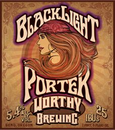Blacklight Porter is a American Porter style beer brewed by Worthy Brewing Co. in Bend, OR