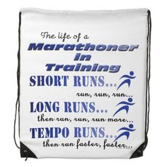 Funny Running Sport Run Marathon Life In Training Backpack This funny design features a runner. Marathoner in training - short runs, long runs, tempo runs then repeat ! This makes a great gift for the athlete in your life, running coach, personal trainer, recreational athlete, elite or professional athlete Great sports gift or for a running group or track club members. #running #funny #marathon
