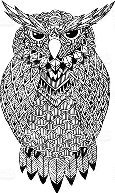 OWL Vector Handdrawn Illustration In Doodle Style