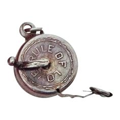Rule of Love Sliver Mechanical Measuring Tape Charm