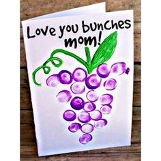 Mother's Day Religious crafts | Image of Moms Love You Bunches Card