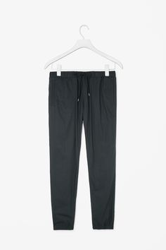 Cuffed cotton trousers