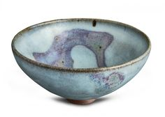 A large Jun ware bowl, Yuan dynasty (1271-1368) the milky blue glaze with a large crimson splash in the interior, a further splash on the outside 10cm h, 20cm d