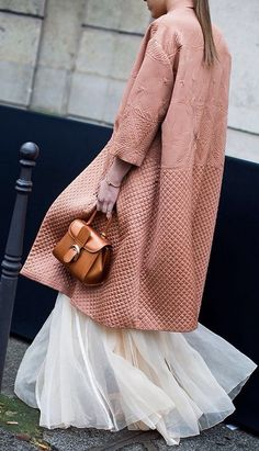 Just look at that texture!...Vogue Layer It Like A Lady Fall Street Style Inspo