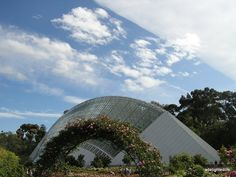 Adelaide rose gardens and bicentennial conservatory, weather front approaching.