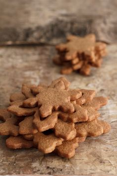 #christmas Snowflake Gingerbread Biscuits