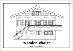 Houses and homes colouring sheets - SparkleBox Easy Coloring Pages, Colouring Sheets, Free Teaching Resources, My Community, Types Of Houses, Vocabulary, School Ideas, Christmas Crafts, Joy