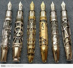 Steampunk Pens: Not starkly modern, I know, but an indulgence in playful fantasy.