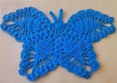 Crochet Patterns In Urdu : ... Urdu, Hindi Video Tutorials: CROCHET BUTTERFLY FREE PATTERN WITH