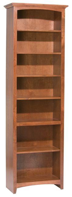 GAC 84″H x 24″W McKenzie Alder Bookcase (1526AEGAC) - Westchester Woods