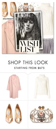 """""""#PolyPresents: Wish List X"""" by vampirella24 ❤ liked on Polyvore featuring Helmut Lang, Moncler Grenoble, Jimmy Choo, Alexander McQueen, Max&Co. and Suarez"""