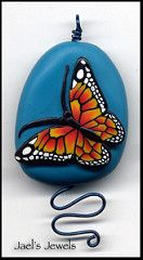 Monarch on Turquoise   Another simple focal pendant, with th…   Flickr