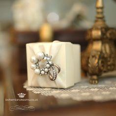 audrey  wedding favour box  www.bohemiandreams.co.uk Luxury Wedding Invitations, Wedding Stationery, Cute Wedding Ideas, Wedding Inspiration, Wedding Favor Boxes, Crystal Wedding, Favors, Jewels, Weddings