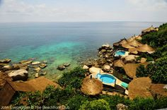 Sea View at Charm Churee Resort on Jansom Bay, Koh Tao, Thailand