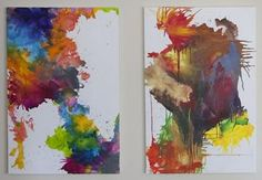 Melt crayons with a hairdryer and make a beautiful picture - Walkthrough - Arteblog