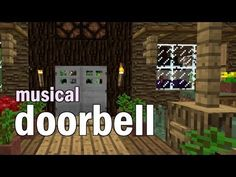 Minecraft: Simple musical doorbell (a party stopper!)