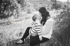 sweet mommy and son photos; black and white outfits; family portraits by abi ruth
