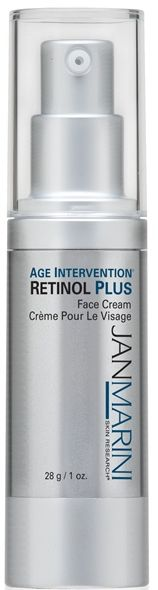"""Jan Marini Age Intervention Retinol Plus - New Beauty Award Winner for """"Best Retinol Cream"""" (Winter 2013). New Beauty says, """"This anti-aging powerhouse has a lot going for it and in it, like retinol, hyaluronic acid, collagen-boosting peptides and green tea extract to 'deliver unparalleled skin benefits.' Sounds serious, but believe us, anyone who uses it will see a drastic change."""""""