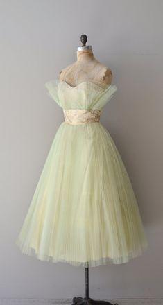 Hummingbird dress vintage 60s dress tulle 1960s by DearGolden