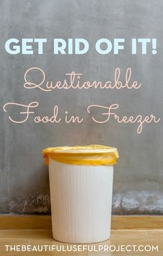 Treasures await inside our freezers! Declutter your freezer, make space, and find some yummy food to eat up this week.