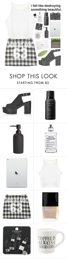 """""""Scorpio Sun   Aquarius Moon"""" by pantelle ❤ liked on Polyvore featuring Topshop, Living Proof, Holga, CB2, Maison Margiela, StyleNanda and Butter London"""