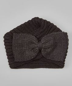 Look what I found on #zulily! CC Black Bow Knit Turban #zulilyfinds