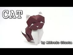 Origami CAT by Alfredo Giunta - Yakomoga Origami tutorial - YouTube