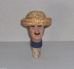 Bouchon tête humoristique Raimu - en terre cuite