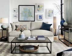 """There's a reason it's called Lounge. Now the relaxed experience of this apartment sofa, part of our ultimate family room collection, is also available in a """"petite"""" version with a more shallow seat and super-soft back cushions for family and friends to sink in."""