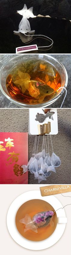 Charm Villa's goldfish-shaped teabags