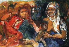 Arab Woman and Child by Oskar Kokoschka