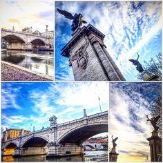 Ponte Vittorio Emanuele II , Roma . • • • #Miles7one #nx7 #wanderlus7 #roma #rome #iglazio #igersroma #visitroma #loveroma #igerslazio #ig_lazio #bellaroma #ilikeitaly #italia #italy #visititaly #loveitaly #italian  #igers #igdaily #instagood #travel #travelgram #traveling #travelling #travels #traveller  #travelphotography #traveltheworld